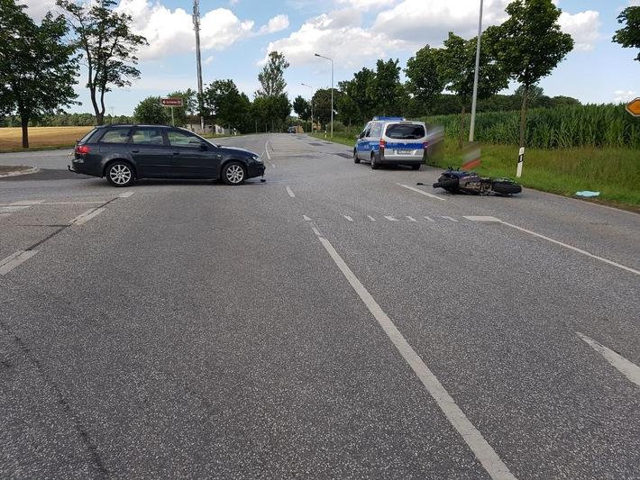 Foto: PI Stralsund - Verkehrsunfall Grimmen