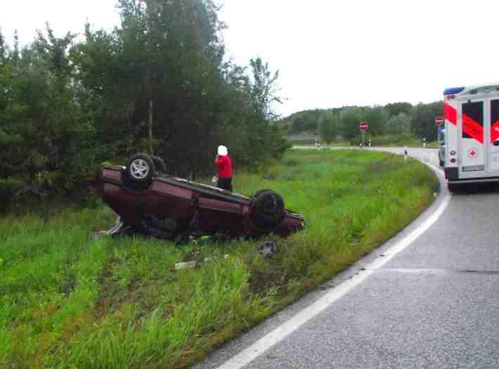 Verkehrsunfall B96 Rügenzubringer, Foto: PI Stralsund