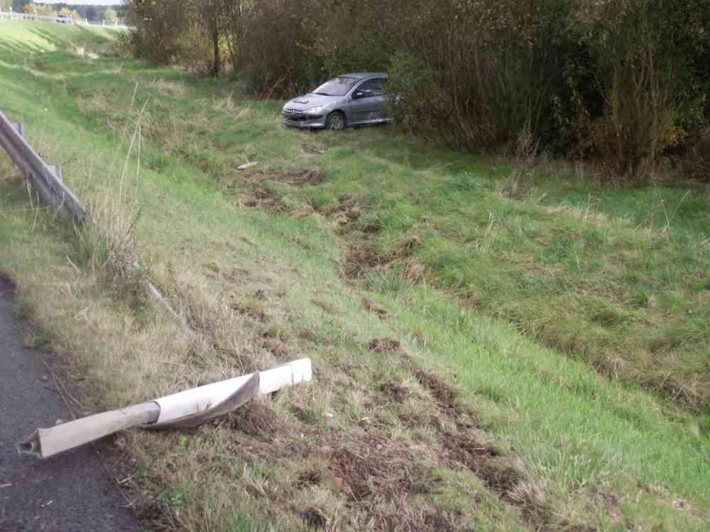 Verkehrsunfall auf der A20