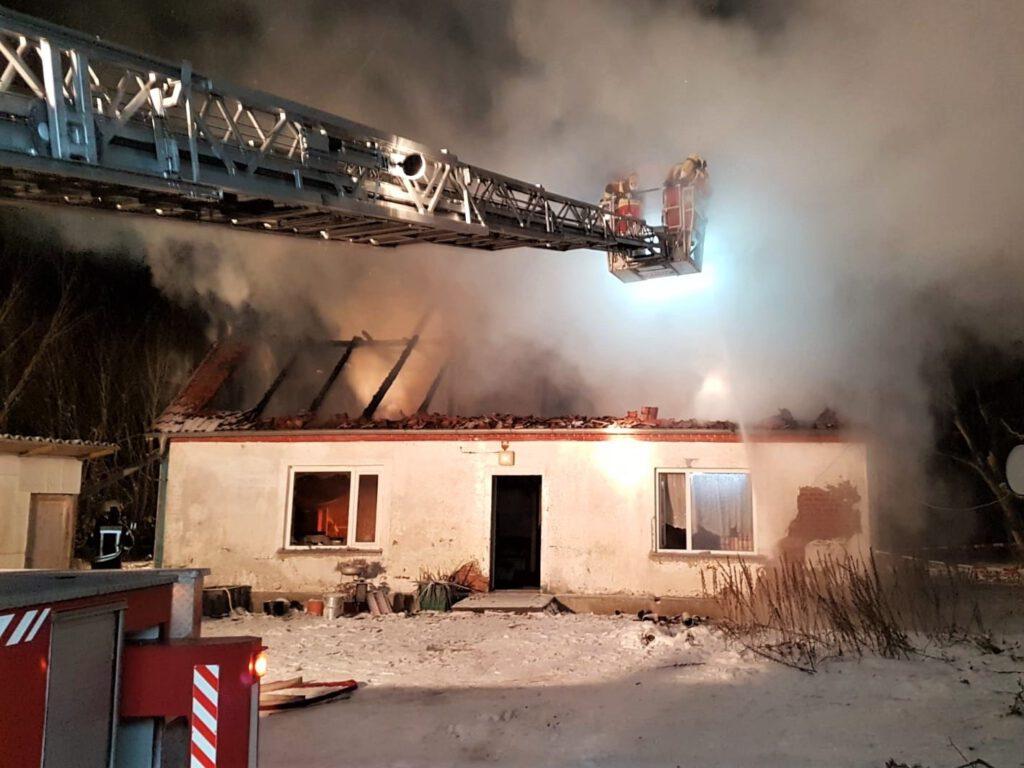 Brand eines Hauses in Vorpommern Ahrendsee