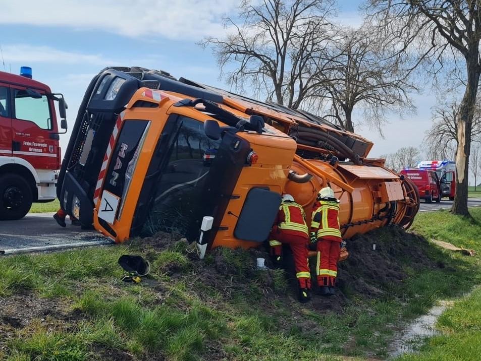 Lkw Gülle Unfall Mecklenburg-Vorpommern
